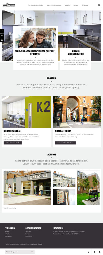 UI DESIGN FOR CASS AND CLAREDALE HOUSING BY SANDRA STAUFER