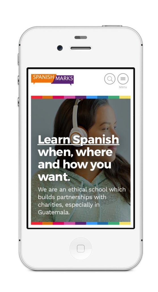 UI DESIGN BY SANDRA STAUFER FOR SPANISH MARKS LANGUAGE