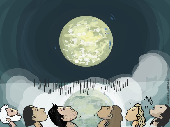 'MUSEUM OF THE MOON' AT QUEENS PARK AS PART OF THE @BREIGHTFEST, ILLUSTRATION BY @SANDRASTAUFER